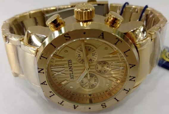 Relógio Atlantis Style A3310 Original Dourado Lindo