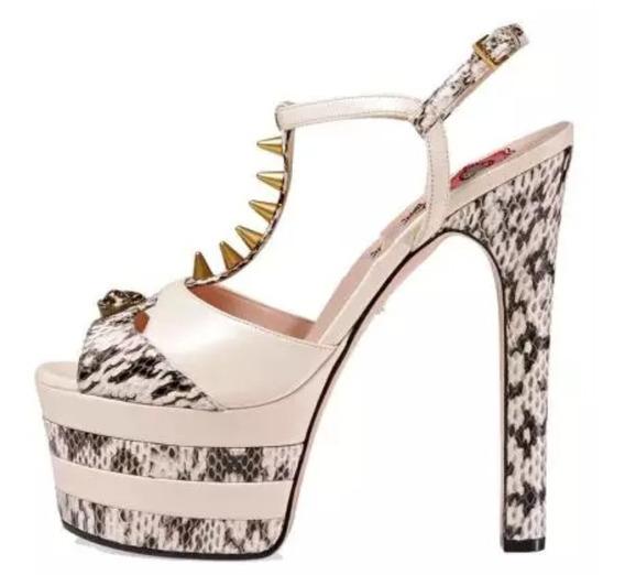 Sapato Plataforma Estilo Gucci Pumps Pronta Entrega