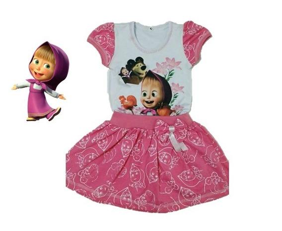 Vestido Infantil Masha E O Urso- Roupa/fantasia