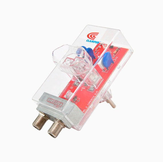 Proteção Clamper Energia Cabo Coaxial Para Conversor Digital