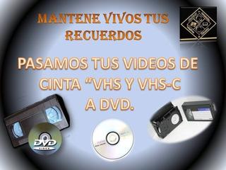 Conversión Vhs A Dvds O Pendrives.taller De Digitalización.