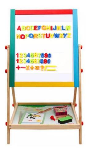 Imagen 1 de 7 de Pizarra - Pizarrón Infantil Imantada, Letras Y Números Niños