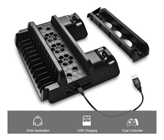 Soporte Enfriador Ventilador Base Cargador Para Ps4