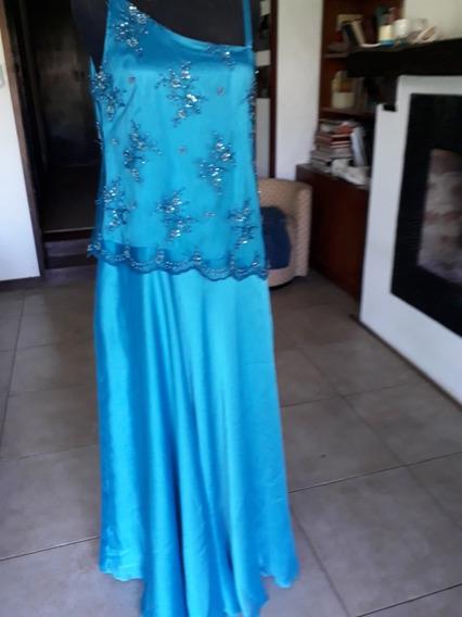 Vestido Largo Fiesta. Madrina. Talle M