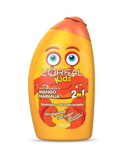 Imagen 1 de 1 de Shampoo 3 en 1  L'Oréal Paris Kids Mango Naranja 265ml