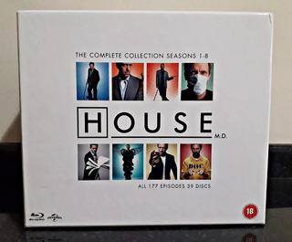 Coleção Completa House Blu-ray 39 Discos