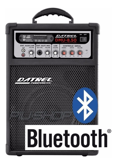Caixa Multiuso Amplificada Bluetooth Usb / Sd Fm 50 Watts Dm