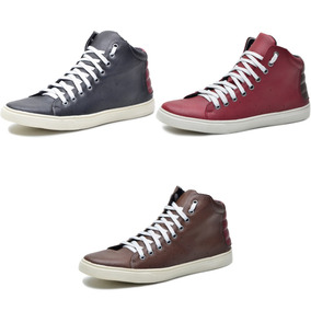 Kit 2 Pares Tênis Sapatênis Sneakers Cano Médio Conforto Top