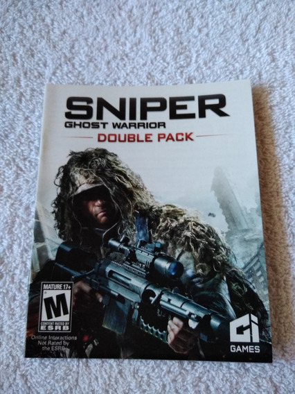 Manual Do Game Sniper Ghost Warrior Double Pack Ps3 *** Leia