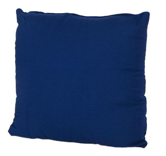Set De 4 Cojines Decorativos Con Cierre 43x43 Azul Casamia