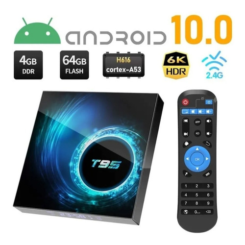 Tv Box T95 Convertidor A Smart Tv 4gb Ram 64gb Rom Router