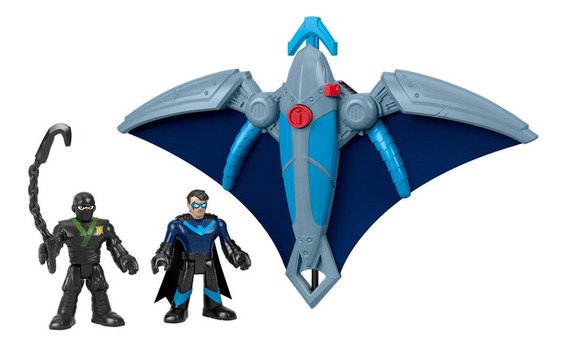 Veículos - Imaginext Dc Super Amigos - Ninja Nightwing E Gli