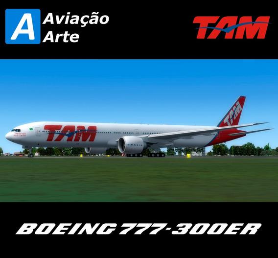 Aeronave Fsx - Frota Tam - Boeing 777-300er
