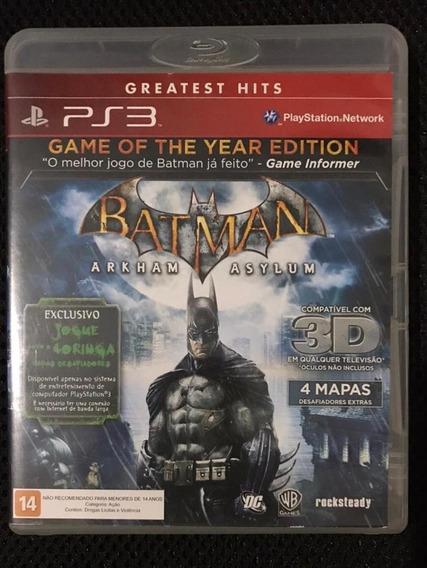 Batman Arkham Asylum - Ps3 - Mídia Física - Usado