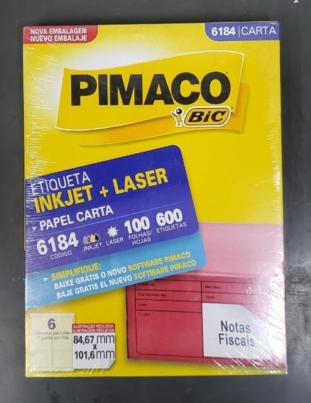 Etiqueta Pimaco Inkjet + Laser - 6184 6 Etiqueta Por Folha