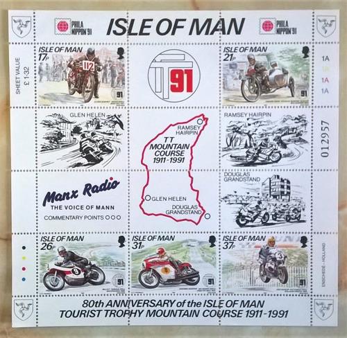 Isla De Man Motos, Bloque Mi. 15 Carrera 1991 Mint L10711