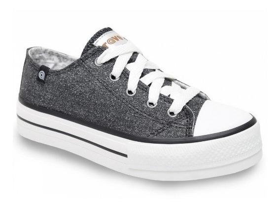 Zapatillas Mujer Urbana Plataforma Rave Original Lona