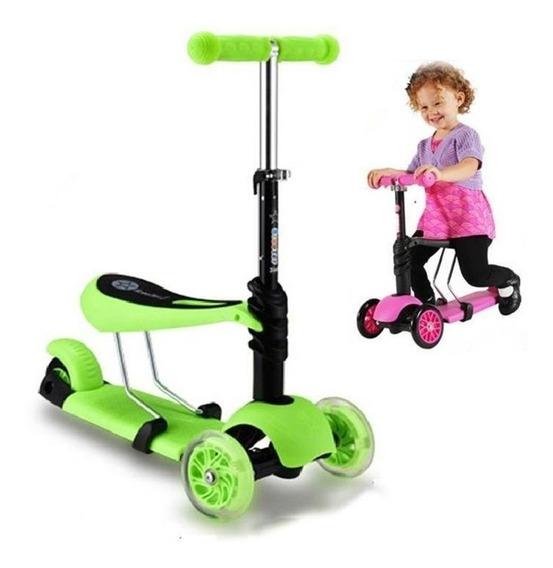 Patinete 3 Rodas Infantil Scooter Com Cadeirinha Promoçao