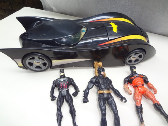 Batmóvel Estrela 1997 + 3 Bonecos Do Batman.