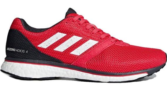 Tenis adidas Adizero Adios Boost 4 Rojo Correr Run Maraton