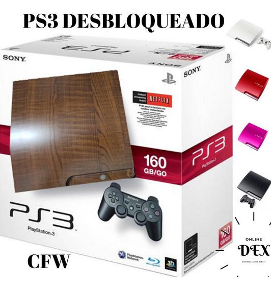 Ps3 Playstation 3 Destravado + Desbloqueado+ 10 Brindes
