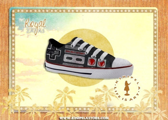 Zapatillas Urbanas Estampadas Joystick Nintendo Gamer Geek