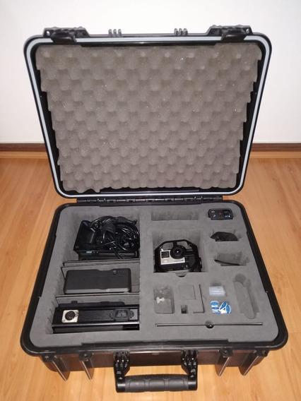 06 Cameras Gopro Hero4 Black C/ Omni Kit Comprada Nos Usa
