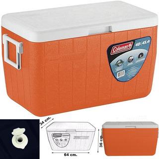 Cooler Coleman Caixa Termica Grande Com Alças 45 Litros 48qt