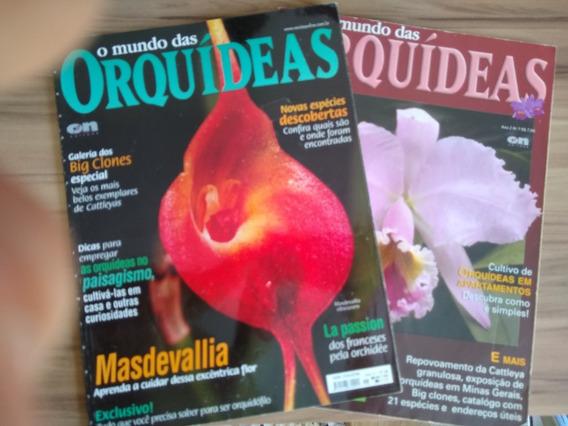08 Revistas O Mundo Das Orquídeas - Inclui A Primeira!
