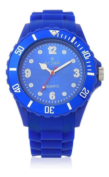 Relógio Nowa Masculino Azul Nw0522ak Borracha Original