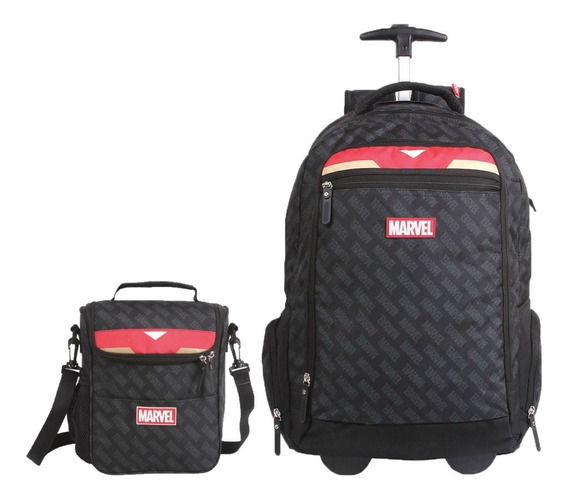Mochila E Lancheira Iron Man Marvel Geek