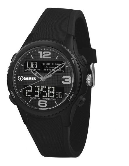 Relógio X-games Masculino Anadigi Preto Leve Xmppa282 G2px