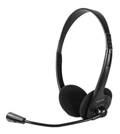 Headset Com Microfone Multimidia Preto Multilaser Ajustavel