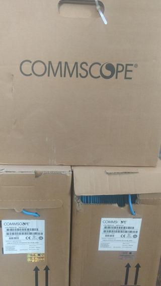 Cable De Red Utp Cat6 Amp Caja 305mts. Commscope Azul.