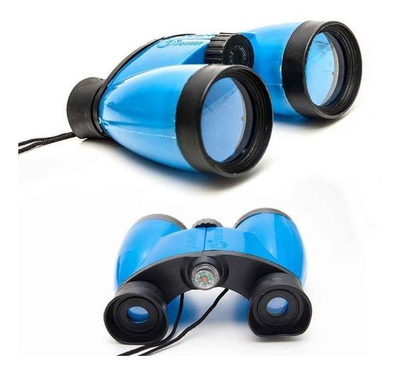 Binoculo Com Bussola Zoom 4x Infantil Brinquedo