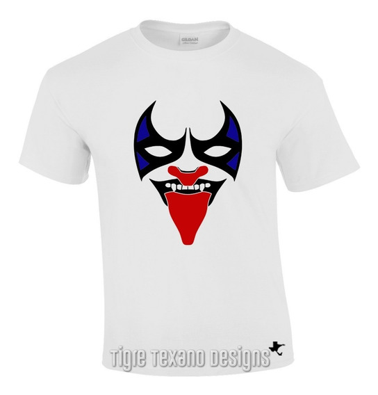 Playera Lucha Libre Psycho Clown By Tigre Texano Designs