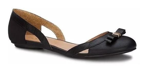 Oferta Zapato Andrea Ballerina Flat Negro 2571300 Moño Pearl