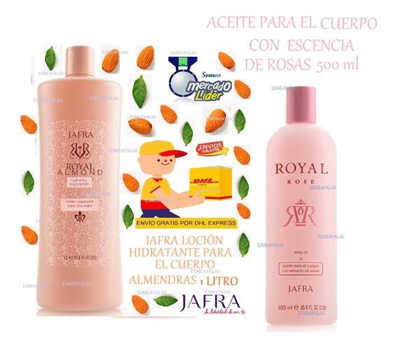 Jafra Loción Crema Almendra 1 L+ Aceite Rosas 500 Env Gratis