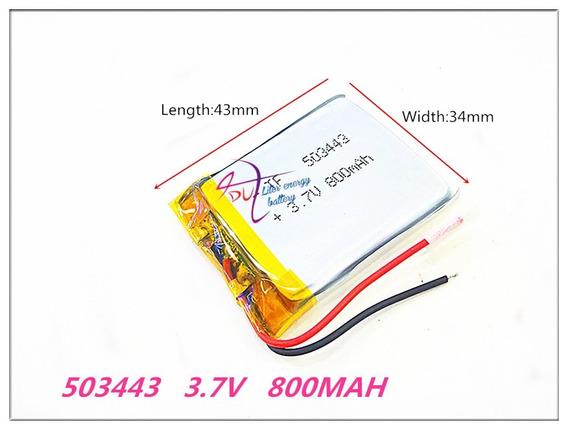 (1pc) Pilha Bateria Gps Navcity Way 55 800 Mah 3,7v 2 Fios