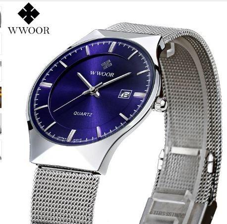Relógio Fino Slim De Luxo Masculino Wwoor C/ Caixa