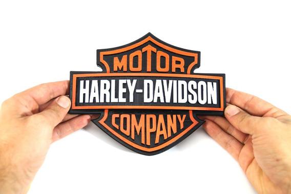 Logotipo Harley Davidson Impressão 3d - 20 Cm