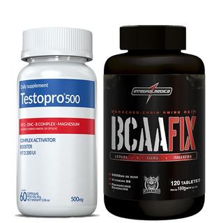 Testopro 500 60 Cáps + Bcaa Fix 120 Cáps Integralmédica