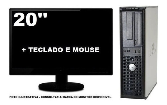 Computador Dell Optiplex 380 Intel 4gb Ddr3 320gb