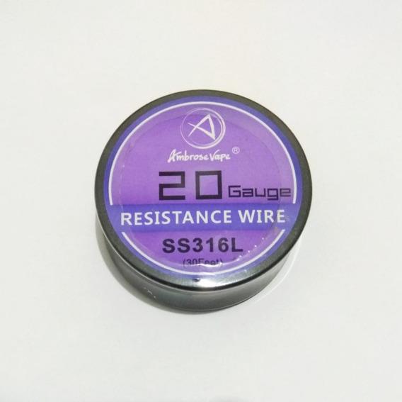 Fio Para Resistência / Coil Ss316l 20 22 30 32 Awg - 10m