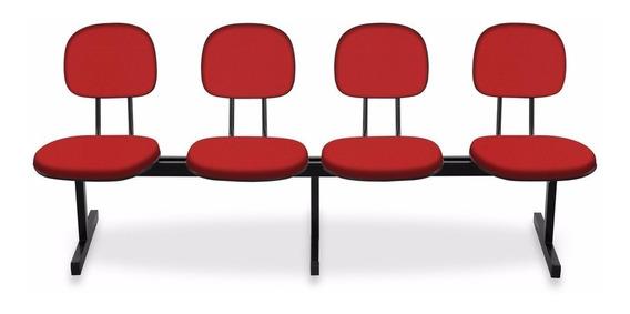 Cadeira Longarina - Igrejas, Auditório, Recepção - 4 Lugares