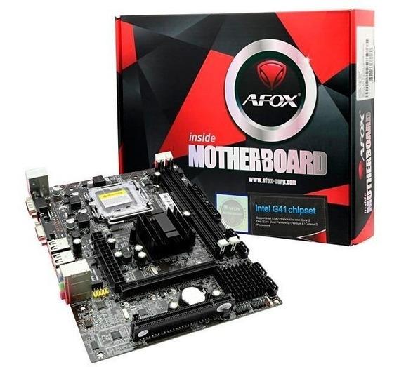 Placa Mae Mb 775 Afox Ig41-ma7 Intel Lga 775 Ddr3 S/v/r