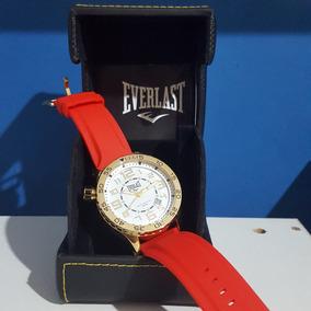 Relógio Masculino Analógico Everlast E535 Vermelho (leia!)