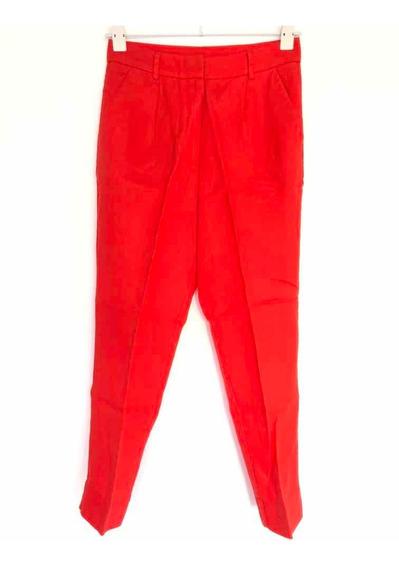 Pantalón Mujer Lino Rojo Etiqueta Negra