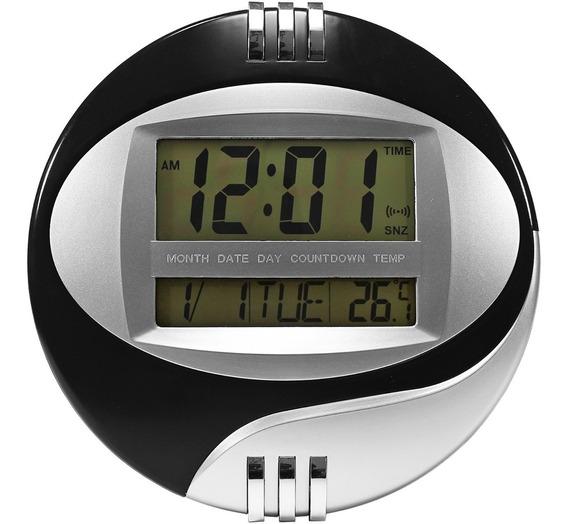 Relógio Digital De Parede Mesa Despertador Grande Termometro