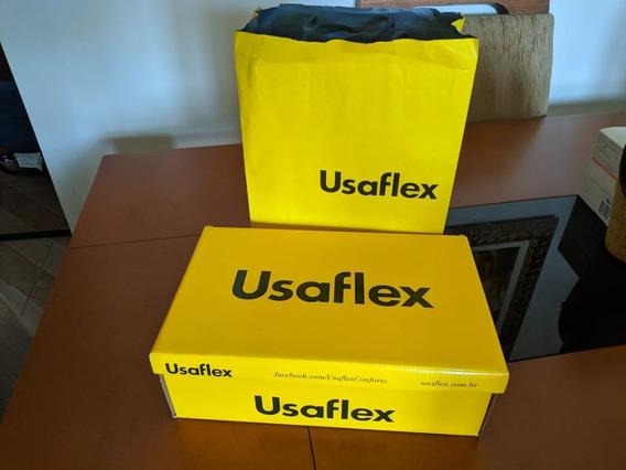 Tênis Usaflex Elástico Preto Nº39 - Usado Uma Vez